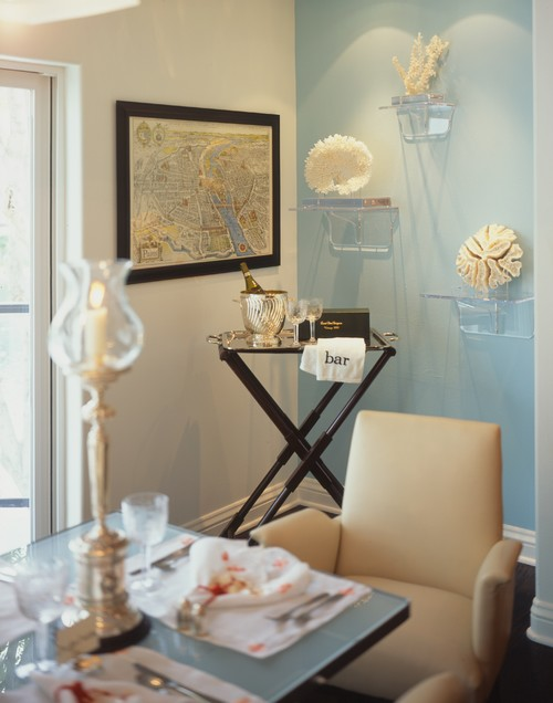 Staged to sell contemporary dining room