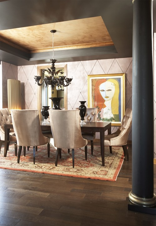 Carlyle Penthouse eclectic dining room