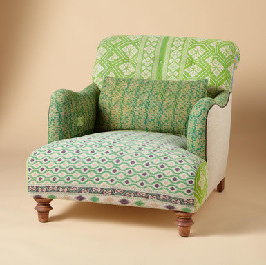 One Of A Kind Benazir Sari Armchair eclectic armchairs