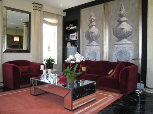 Italian Theater panels. eclectic living room