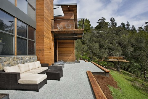modern patio by Quezada Architecture