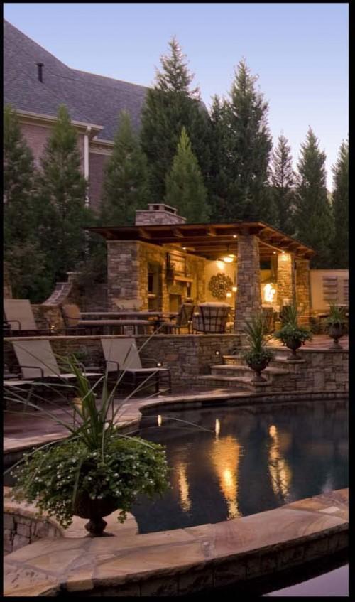 Pool House mediterranean pool