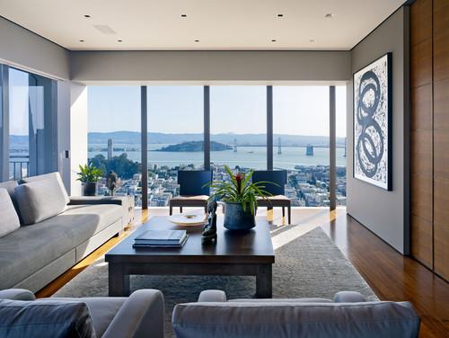 Interior shots contemporary living room