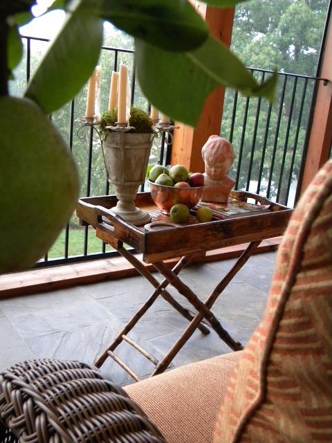 Crazy About a Porch eclectic porch