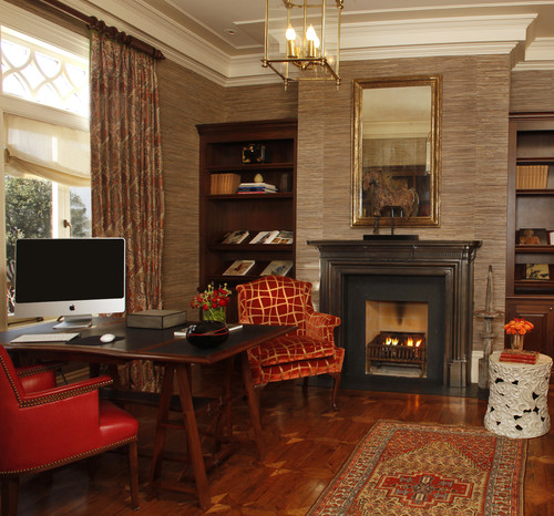 Study traditional home office