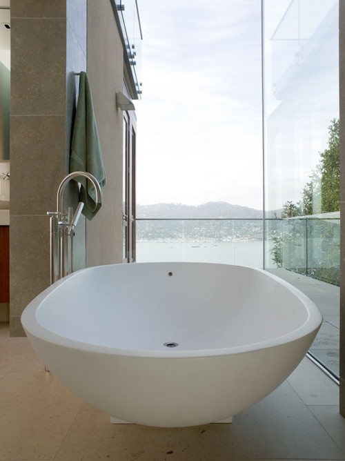 Hillside Residence modern bathroom