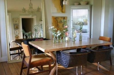 Michigan farmhouse eclectic dining room