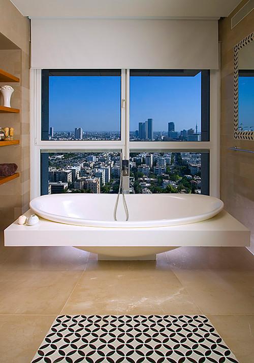 contemporary bathroom by Elad Gonen & Zeev Beech