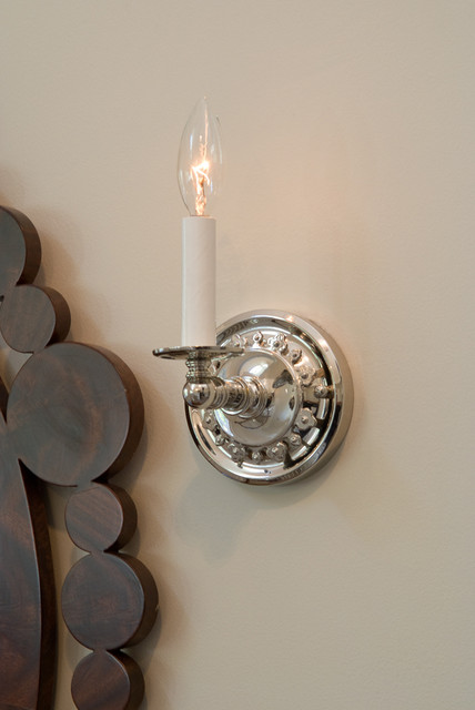 Electric Candle Sconce Close up - Traditional - milwaukee ... on Decorative Wall Sconces Non Electric Lights For Closets id=91595