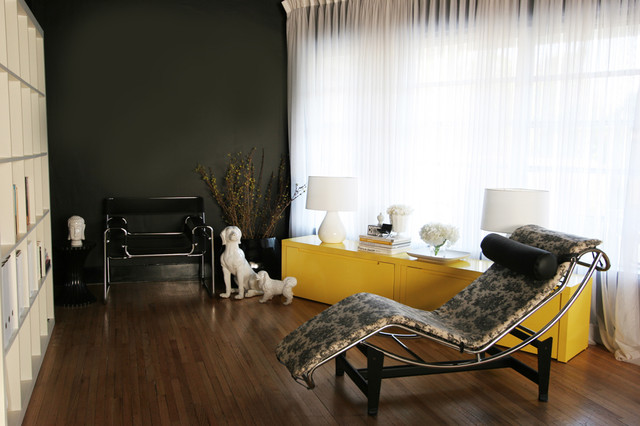 black and yellow modern glamour living room contemporary living room