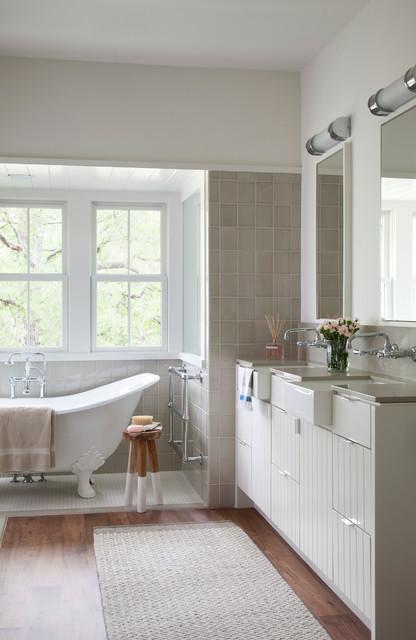 Modern Farm House - Farmhouse - Bathroom - austin - by Tim ... on Bathroom Ideas Modern Farmhouse  id=27526