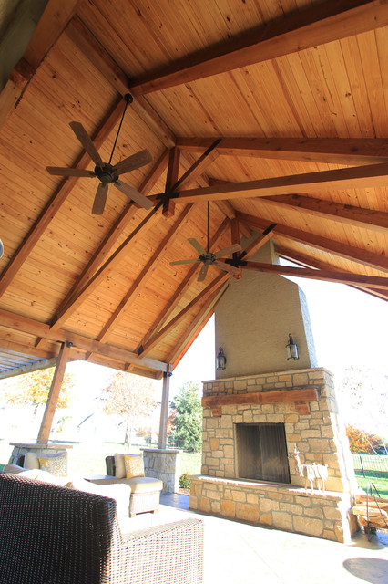 Roof Structure, Fireplace + Grill Station - Contemporary ... on Patio Grill Station id=53601