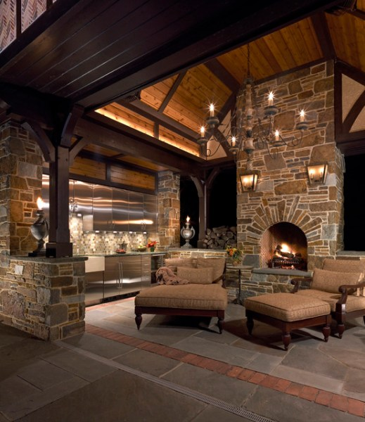 outdoor living space ideas for patios Outdoor Living Room - Traditional - Patio - philadelphia