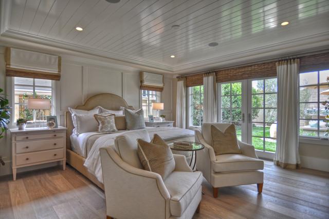 transitional bedroom by Spinnaker Development