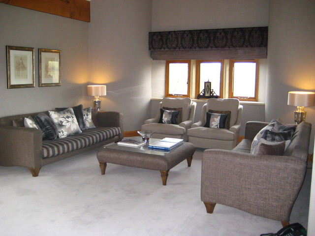 Contemporary Barn Conversion - Living Room - manchester UK ...