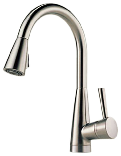 Venuto Stainless Steel Kitchen Pull Down Faucet Modern Faucets