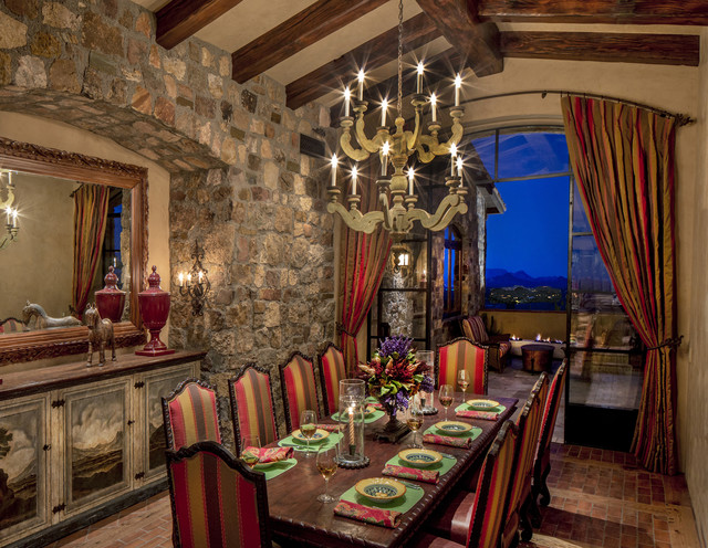 Arizona Tuscan Southwestern Dining Room Phoenix By Urban Design Associates