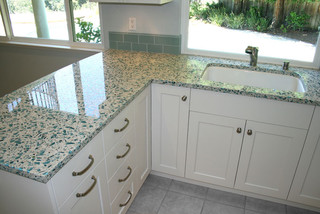 Kitchen Remodeling Ideas For Green Countertop Materials Recycled