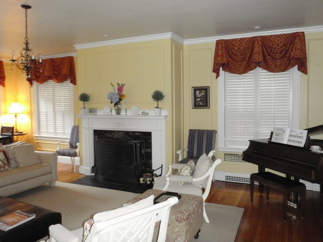Plantation Shutters Traditional Living Room Boston By Shades IN Place