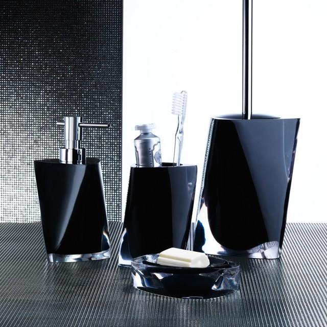 Twist Black Bathroom Accessories - Contemporary - Bathroom ...