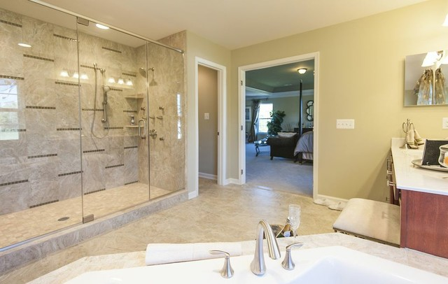 Model Home Master Bathroom in MD - Traditional - Bathroom ... on Bathroom Model Design  id=47606