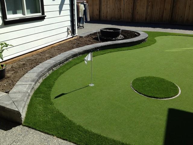 Backyard putting green - Modern - Landscape - vancouver ... on Putting Green Ideas For Backyard id=78561