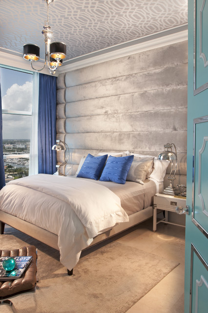 Hollywood Regency- Turnberry Ocean Colony Sunny Isles, Fl eclectic bedroom