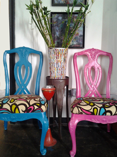 Instinctive Design Reworked And Repurposed Furniture Eclectic Living Room Atlanta By
