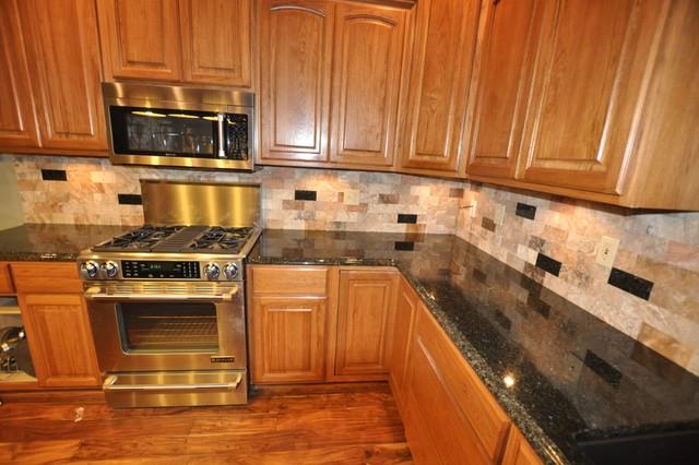 Granite Countertops and Tile Backsplash Ideas - Eclectic ... on Backsplash Ideas For Dark Granite Countertops  id=18229