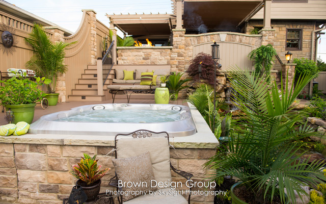 Elegant Tiered Garden - Traditional - Landscape - other ... on Tiered Yard Ideas  id=69575