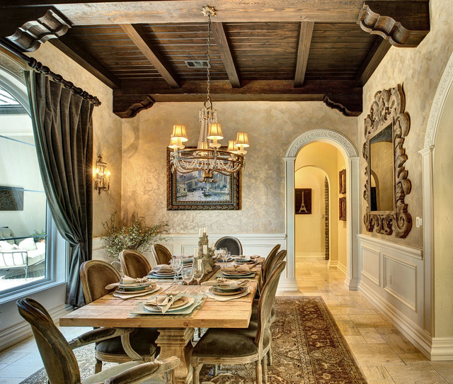 French Country Manor Mediterranean Dining Room Other