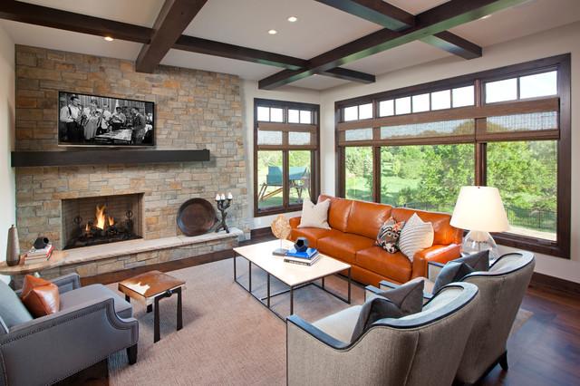 Urban Lodge Transitional Living Room Minneapolis