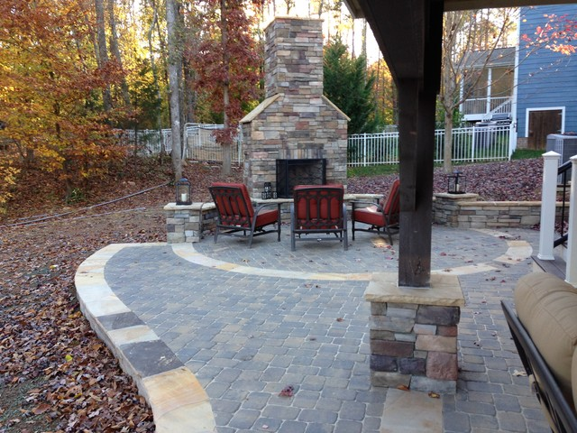 Casual Outdoor Living Area - Rustic - Patio - other metro ... on Casual Living Patio id=69905