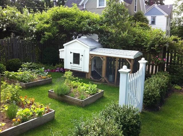Backyard Garden - Farmhouse - Landscape - boston - by ... on Farmhouse Yard Ideas id=77354