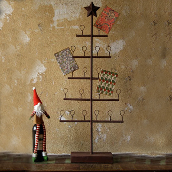 Rustic Tree Card Holder Rustic Holiday Accents And