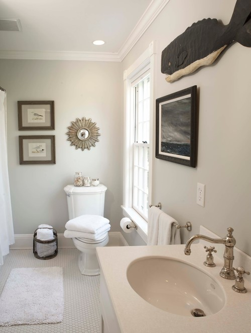 Edgecomb Gray By Benjamin Moore. Traditional Bathroom ...