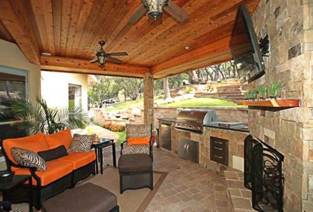 Outdoor Living - Contemporary - Patio - austin - by Texas ... on Houzz Backyard Patios  id=81554