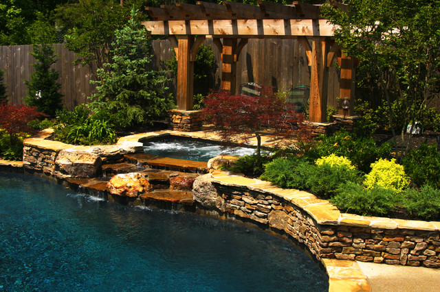 East Memphis Natural Pool, Spa, & Outdoor Living Design on Outdoor Living Spa  id=18468