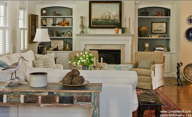 Casual Living Room - Traditional - Living Room - boston ... on Fireplace Casual Living id=21139