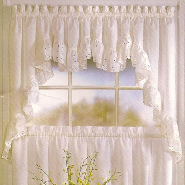 United Curtain Vienna Kitchen Valance Modern Curtains