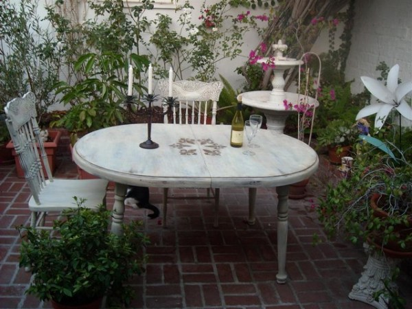 french country outdoor patio furniture French Country style Refinished Furniture - Eclectic