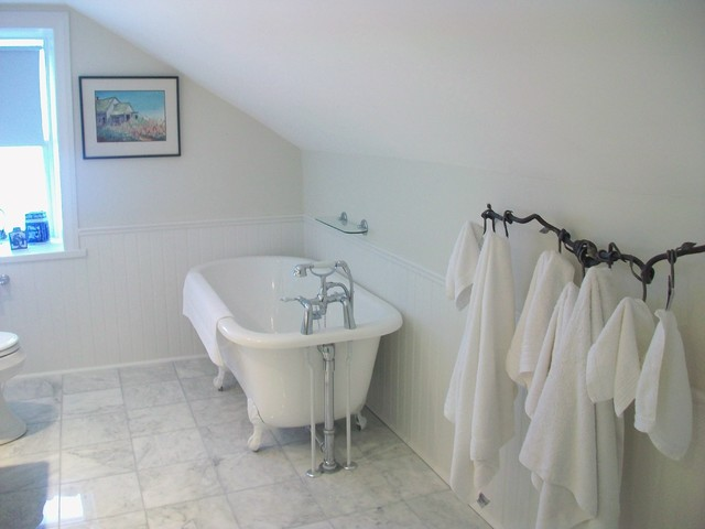 Bathroom Reno With Sloped Ceiling And Clawfoot Tub