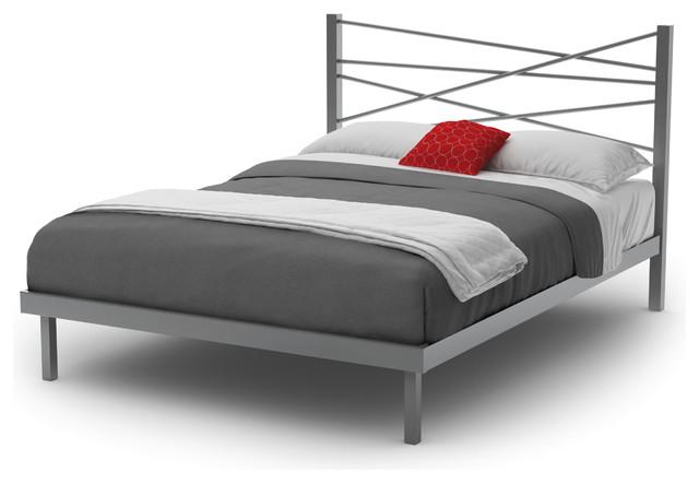 Amisco Crosston Queen Size Metal Platform Bed 60