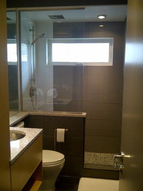 Small Spaces - Bathroom - Contemporary - Bathroom ... on Bathroom Designs For Small Spaces  id=79660