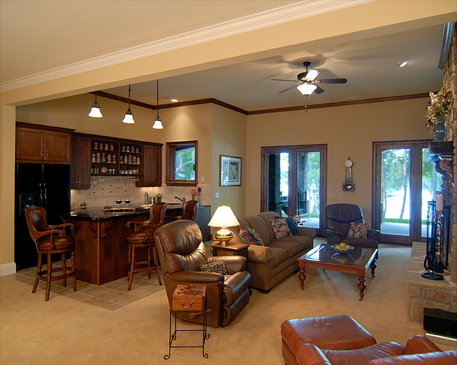 French Country - Traditional - Basement - charlotte - by ...