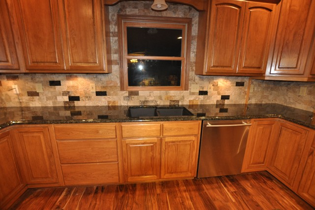 Granite Countertops and Tile Backsplash Ideas - Eclectic ... on Countertops Backsplash Ideas  id=16077