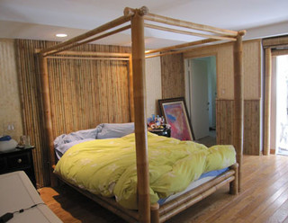 Quality Bamboo And Asian Thatch 4 Poster Bedcanopy Bed Bamboo Bed Four Post Bamboo Beds Canopy
