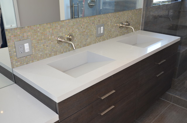 1980s Sink Countertop Integrated Vanity