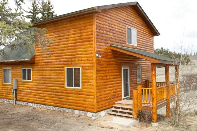 Log Home Maintenance And Refinishing Siding Stain
