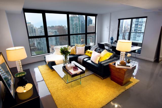 Yaletown Loft modern living room